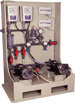Flomotion Dual Pump Chemical Feed System